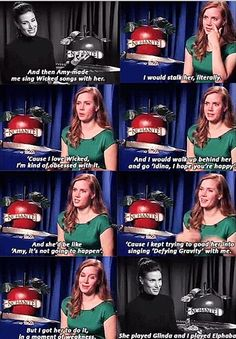 Amy Adams is a Wicked fan :)