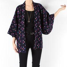 Vintage kimono // hippie boho // huge kimono by shopCOLLECT, $42,00