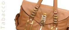 Tobacco MARIA bag with gold accessory by Roberto Mantellassi