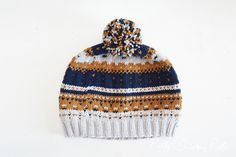 Check out the amazing colorwork in this beanie by @prettyqpants!
