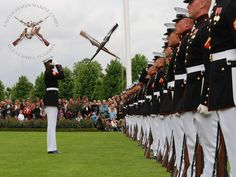 Marine Corps Silent Drill Team.