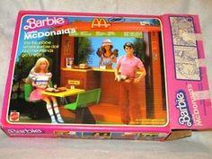 Vintage 1982 Barbie Loves McDonalds Restaurant Play Set in Original Box Rare Mcdonald's Restaurant, Barbie, Mcdonalds, Play, Baseball Cards, Love, The Originals, Vintage, Amor