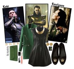 """""""Loki"""" by kjvdolly ❤ liked on Polyvore featuring Versus, Halston Heritage, GUESS, Maison Margiela, Valextra, Ilia, Butter London, Lord & Berry, NARS Cosmetics and dollyBound"""