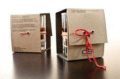 Packaging original para postre de chocolate