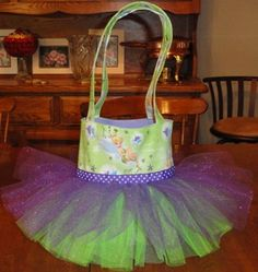 Tinkerbell Tutu Tote Bag Party Favor Gift Bag by SewPizazzed, $25.99