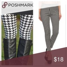 New High Waist Houndstooth Leggings Nwt light fur lined houndstooth leggings perfect essential for fall . High waist soft interior looks great with boots and tunics . Accessories Hosiery & Socks