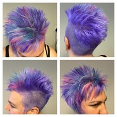 Colored pencils - All For Little Girl Hair Exotic Hair Color, Funky Hair Colors, Vivid Hair Color, Pretty Hair Color, Bright Hair Colors, Hair Dye Colors, Short Grey Hair, Short Hair Cuts, Short Hair Styles