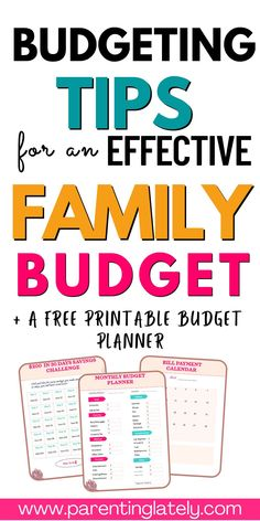 All the budgeting tips you need to save money and budget successfully for your family. Maintain an effective budget with these tips. #money saving tips #budgeting tips Budgeting Finances, Budgeting Tips, Ways To Save Money, Money Saving Tips, Budget Envelopes, Family Budget, Frugal Living Tips, Budget Planner