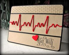 Get Well card created by Melissa @ crazypaperfreak. Get Well Karte erstellt von Melissa @ crazypaperfreak. Get Well Gifts, Get Well Cards, Cool Cards, Diy Cards, Cricut Cards, Sympathy Cards, Paper Cards, Creative Cards, Greeting Cards Handmade