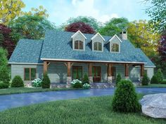 Find your dream farm style house plan such as Plan which is a 2050 sq ft, 3 bed, 2 bath home with 0 garage stalls from Monster House Plans. Country Style House Plans, Craftsman Style House Plans, Ranch House Plans, Country Homes, Modern Farmhouse Plans, Farmhouse Design, Farmhouse Style, Rustic Farmhouse, House Plans One Story