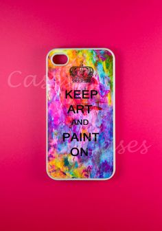 Iphone 4 Case  Keep Calm and Paint On Iphone Case by DzinerCases, $14.99