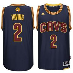 Cleveland Cavaliers #2 Kyrie Irving 2015-16 Finals Navy Blue Jersey