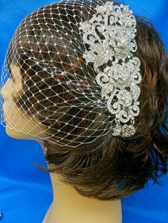 Bridal Comb And Veil Wedding Comb and Veil Bridal Comb by ctroum, $69.00