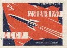 русский спичечный этикет  «Луна-2» стала вторым из программных космических аппаратов Советского Союза «Луна», запущенных в направлении Луны.