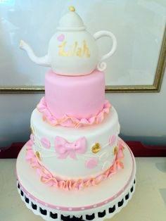 Pink and Gold Tea Party Cake, by Amy Hart