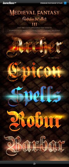 Medieval Fantasy Game Style Text Effects 3 #titles #text #spell • Download ➝ https://graphicriver.net/item/medieval-fantasy-game-style-text-effects-3/12413627?ref=pxcr