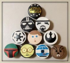 I have to make these for my brother's birthday!! Star Wars Cupcakes | Cute Cupcakes | CutestFood.com