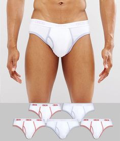 ASOS Briefs With Branded Waisband And Contrast Binding 5 Pack - Multi
