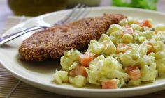 Přílohový květákový salát s majonézou (paleo, Whole 30, Potato Salad, Mashed Potatoes, Almond, Paleo, Low Carb, Snacks, Vegan, Chicken