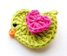 Passarinho de crochet lindo! Ótimo pra aplique