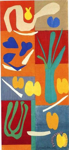 Inspiration for the next at-home collage art project: Henri Matisse Vegetables 1952 Art Print