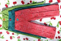 Cool pants - Broek met plooien en paspelbandzakken