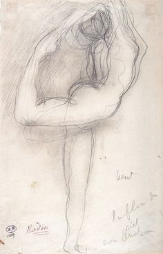 Wind  C 1900 Rodin Graphite on Paper | by Ian#7
