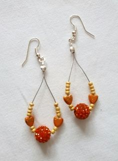 Boucles d'oreilles perles et perles shamballa. Opale Isis, Christine Monsion