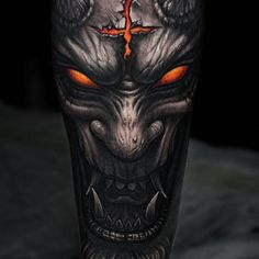 101 Demon Tattoo Designs Ideas With Meanings 70 Dark Souls Tattoo Designs For Men Video Game. Satanic Tattoos, Evil Tattoos, Warrior Tattoos, Badass Tattoos, Viking Tattoos, Tattoos For Guys, Angel Tattoo Designs, Skull Tattoo Design, Tattoo Designs Men