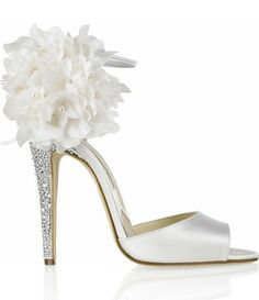 If you are looking for white bridal shoes with showstopping details, look no further than these Limited Edition Brian Atwood Aurora Embellished Satin Sandals. These exquisite shoes are adorned with. Pretty Shoes, Beautiful Shoes, Cute Shoes, Me Too Shoes, Bridal Shoes, Wedding Shoes, Wedding Dress, Zapatos Shoes, Shoes Heels