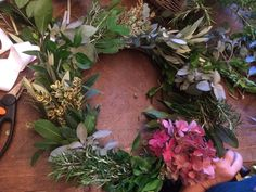 Every year we love making handmade wreaths for our homes. It's so great to search the garden for herbs, flowers and foliage