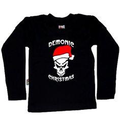 Koszulka dziecięca z długim rękawkiem - Demonic Christmas z FamilyInBlack.pl