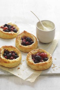 Organic Mixed Berry Tarts    #CreativeGourmet #recipe