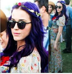 Cute Katy Perry Round Frame Sunglasses she wore to cochella 9.99