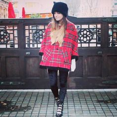 CutiePieMarzia's Britain inspired outfit! That is so cute! Marzia Bisognin