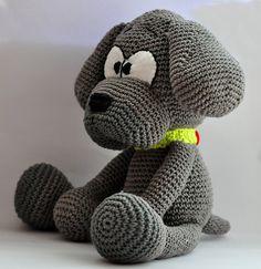 crochet pattern amigurumi dog pdf English by MOTLEYCROCHETCREW