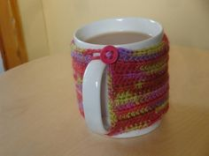 Mug cosy Handmade by Rebekah Homemade Gifts, Cosy, Mugs, Tableware, Handmade, Dinnerware, Handcrafted Gifts, Cups, Diy Gifts