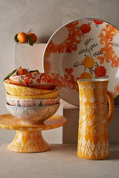 Sun Grove Serveware - love those bowls and the cake stand