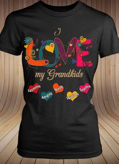 Inktastic I Love My Grandson With Down Syndrome T-Shirt Awareness Grandpa Family