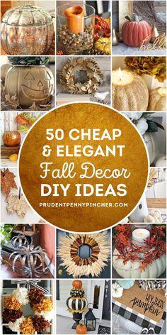 Diy Home Decor Rustic, Fall Home Decor, Autumn Home, Elegant Fall Decor, Pumpkin Centerpieces, Wedding Centerpieces, Elegant Centerpieces, Wedding Decorations, Pottery Barn Inspired
