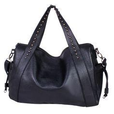 e5b2ea42524 Image of Retro Rivets Tassels Portable Shoulder Bag Canvas Tote Bags,  Clutch Bag, Crossbody