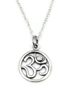 Diamond Om Sterling Silver Yoga Necklace Harmony Abundance - $87.00 : Yoga Jewelry, Om Necklace, Tree of Life Jewelry, Chakra Jewelry, Buddhist Jewelry, Buddha Necklace, Lotus Jewelry, Inspirational and Yoga Inspired Jewelry, Yoga Jewelry of Simple Beauty, Jewelry gifts with meaning