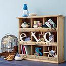 Vintage Style Wooden Shelf Unit - storage