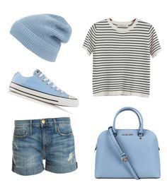 """Sky"" by emilymartinn ❤ liked on Polyvore featuring мода, Chicnova Fashion, Current/Elliott, Michael Kors, Converse и Phase 3"