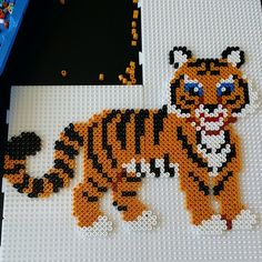 Tiger hama perler beads by pcheick