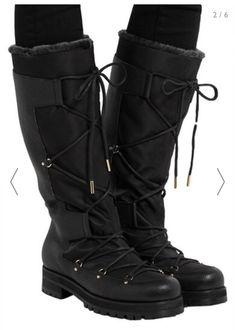 1cf900f27b2 JIMMY CHOO-TALL RABBIT FUR Leather KNEE BOOTS SIZE  EU 41  fashion