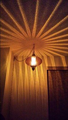 $2.00 Vintage Amber Swag Lamp