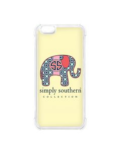 Simply Southern Elephant Phone IPhone Case - Yellow