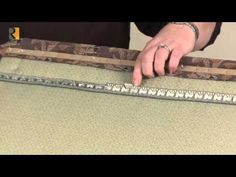 Tutorial for: Flexible Metal Tack Strip. A MUST SEE for reupholstering finishing like a pro.