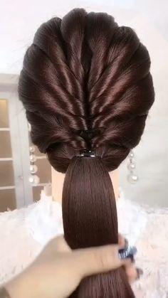 Hairdo For Long Hair, Bun Hairstyles For Long Hair, Front Hair Styles, Medium Hair Styles, Hair Style Vedio, Hair Tutorials For Medium Hair, Amazing Hair, Hair Videos, Hair Designs